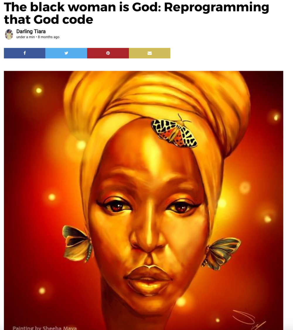 The black woman is God: Reprogramming that God code