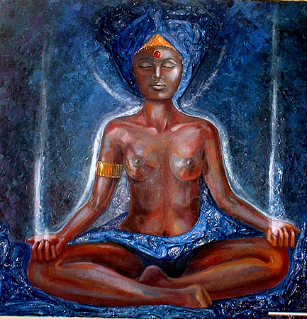 Art credit:  Black woman in meditation by Claudine Menou