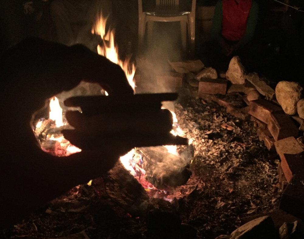 S-mores around the fire with the team. Like I said, watching what you eat is for roadies.