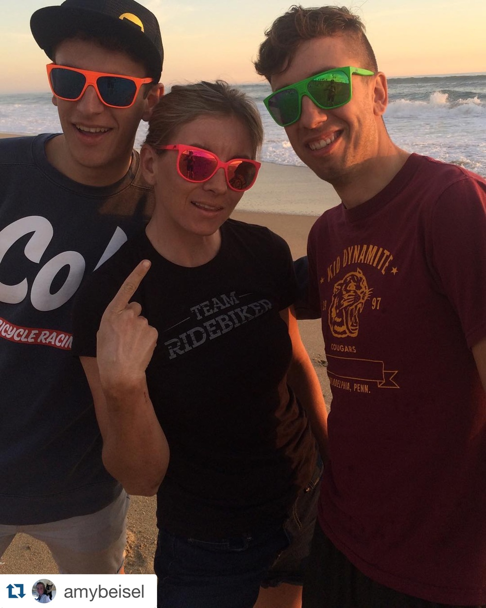 Team  Julbo  on fleek for a sunset on the beach!
