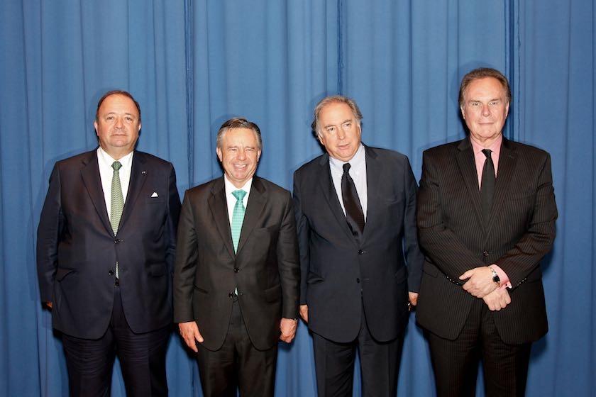 Left to right:  H.E. Luis Carlos Villegas, Ambassador of Colombia;H.E. Eduardo Medina Mora-Icasa, Ambassador of Mexico;H.E. Juan Gabriel Valdés, Ambassador of Chile;H.E. Harold Forsyth, Ambassador of Peru