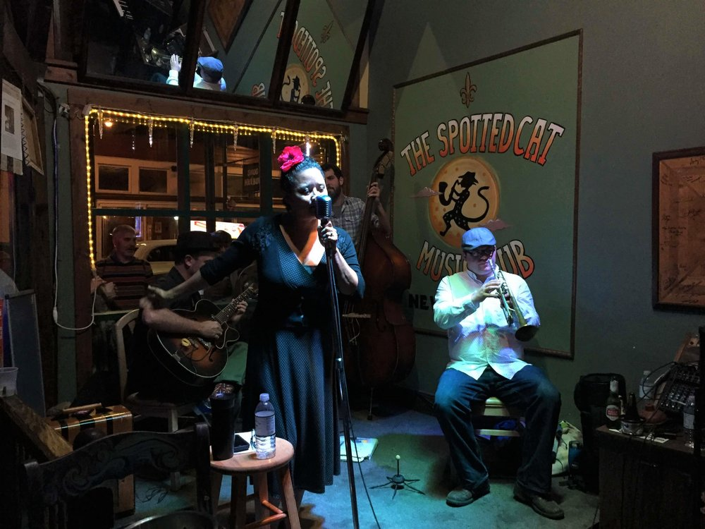 Live music at The Spotted Cat on Frenchmen Street