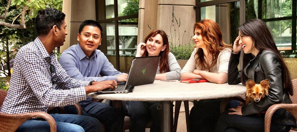 Ravi Gadam (CFO), Hen Ly (CTO), Kathi Chandler-Payatt (CMO), Yuliya Karuchek (CEO), Melissa Bersamina (CSO)
