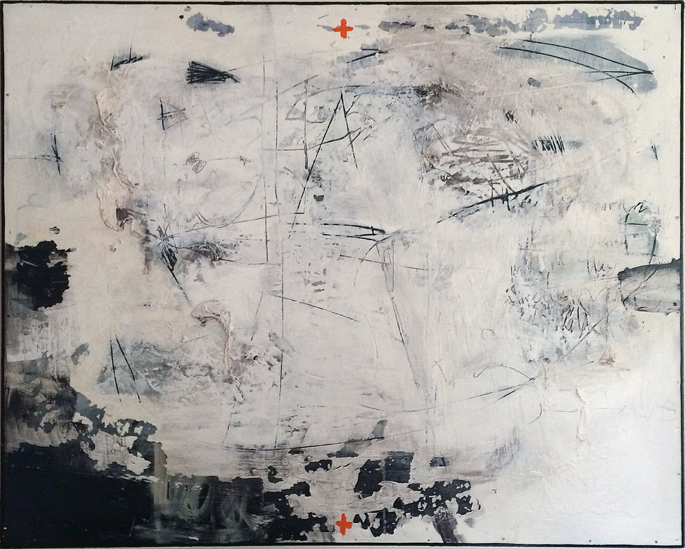 FLAGSTONE  48″ X 60″ / Mixed Media