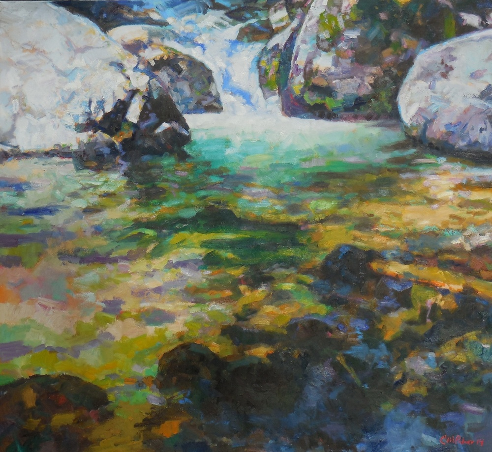 NORTH IDAHO WATERFALL  48″ X 52″ / Acrylic