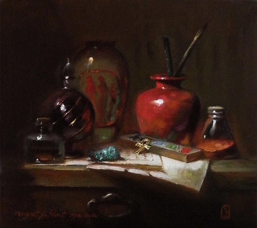 VIZIER'S HABILLMENTS  9″ x 10″ / Oil On Linen