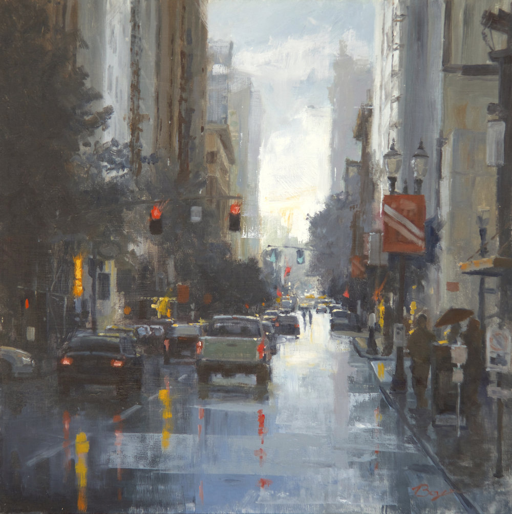 RAINY AFTERNOON  22″ X 22″ / Oil