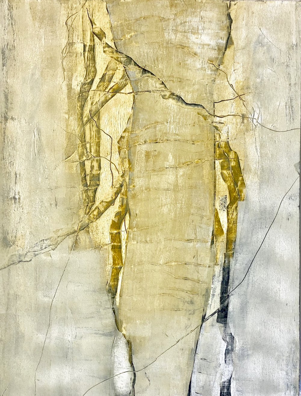 """ON THE DRIVE BACK  60"""" x 60"""" / Mixed Media"""