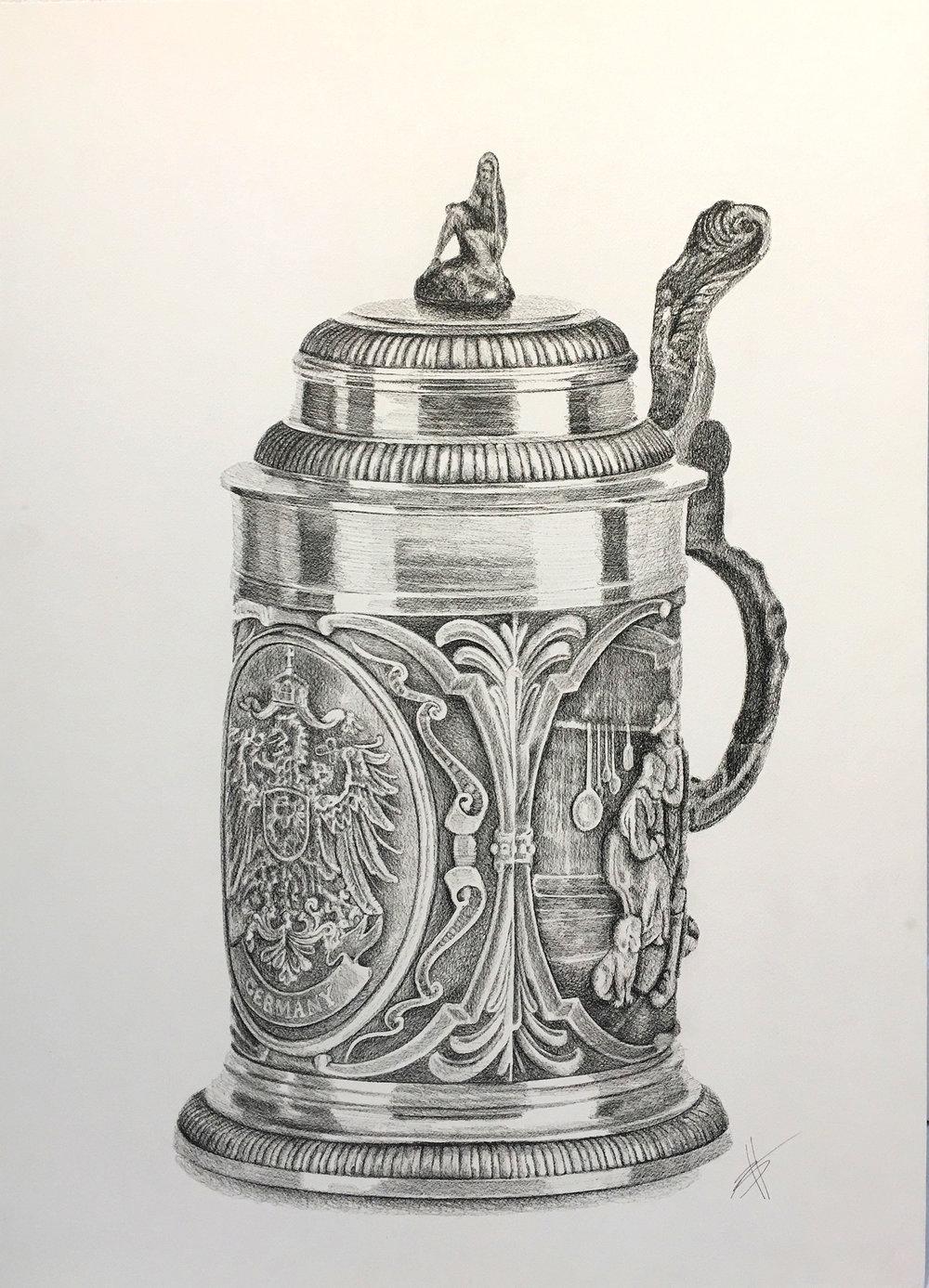 BERR STEIN  36″ X 26″ / Ink on Paper