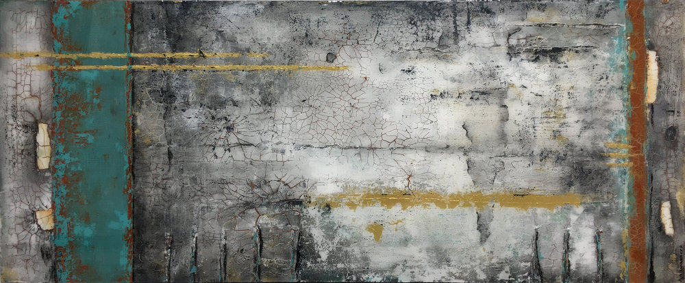 "WITHIN  30"" X 72"" / Mixed Media"