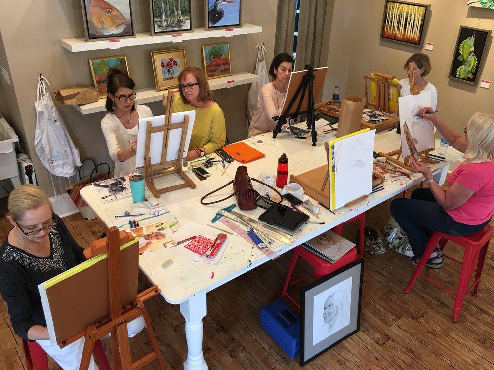Janet Maines Workshop, 2016