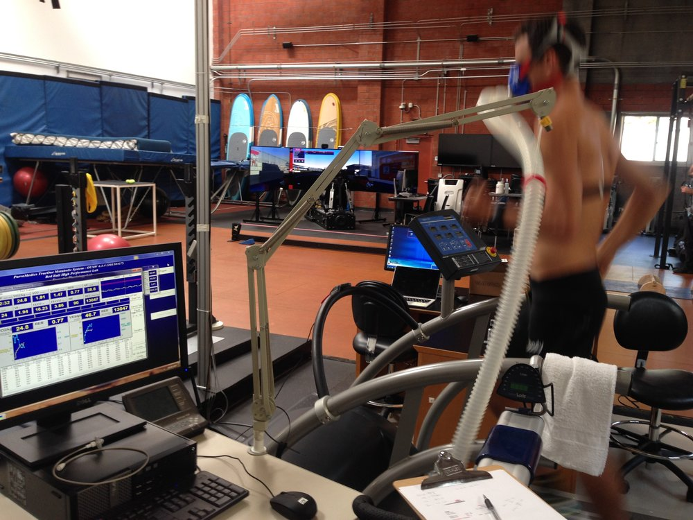 Performing a Vo2 max test at the Red Bull High Performance Center in Santa Monica, CA. This was one of the last steps in an eight month process of being vetted and approved for sponsorship.