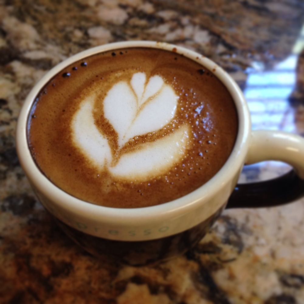 a 3oz cafe macciato made on the Gaggia Classic