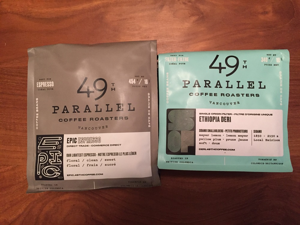 49th Parallel's great packaging - and offering a full pound for espresso!