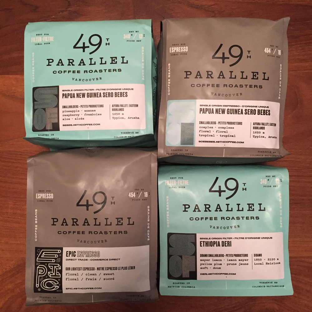 49th Parallel's packaging is some of my favorite.  Great layout design, and lots of info!