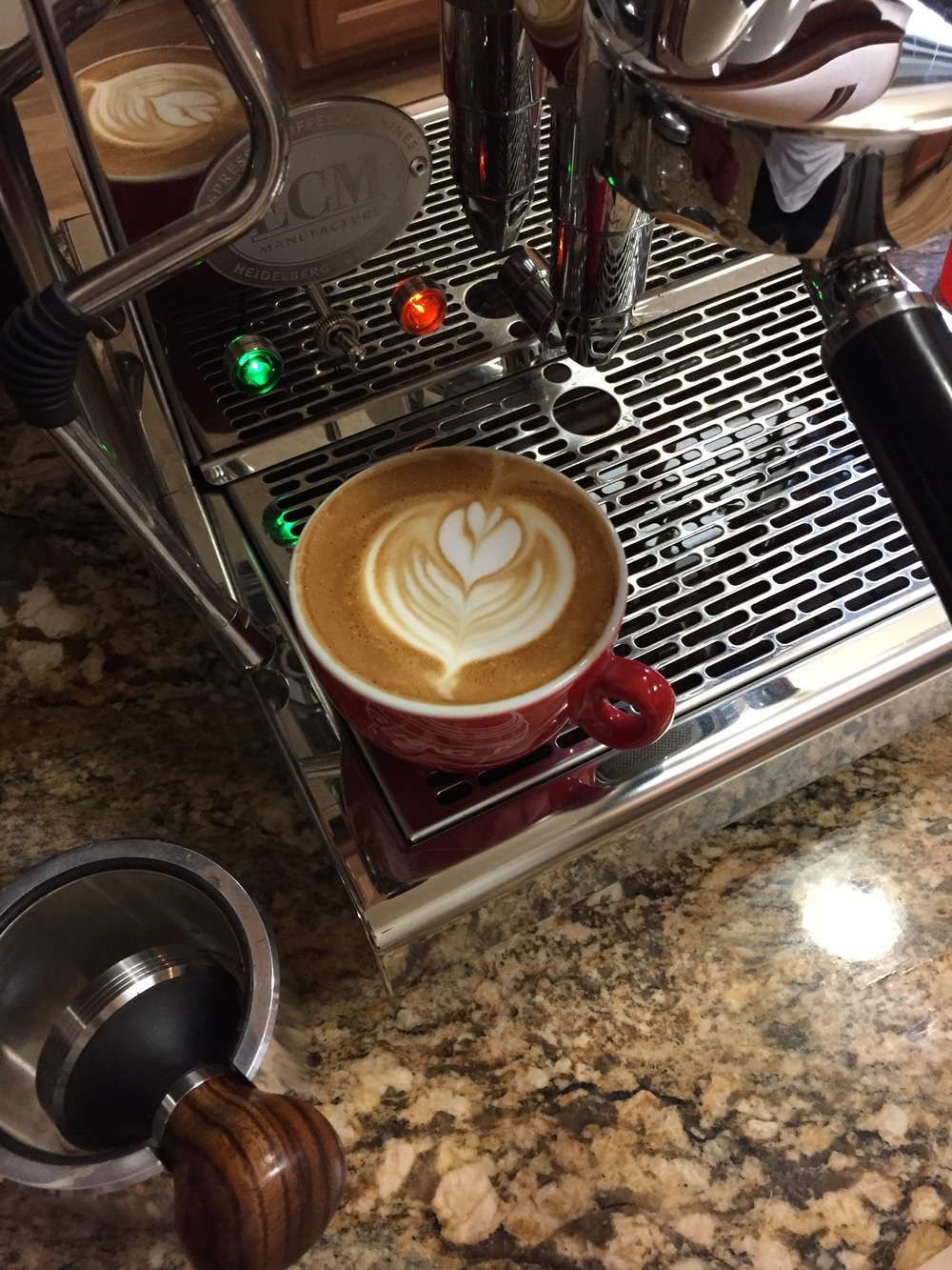 Nice little comfort cappa with a bit of zing to it.