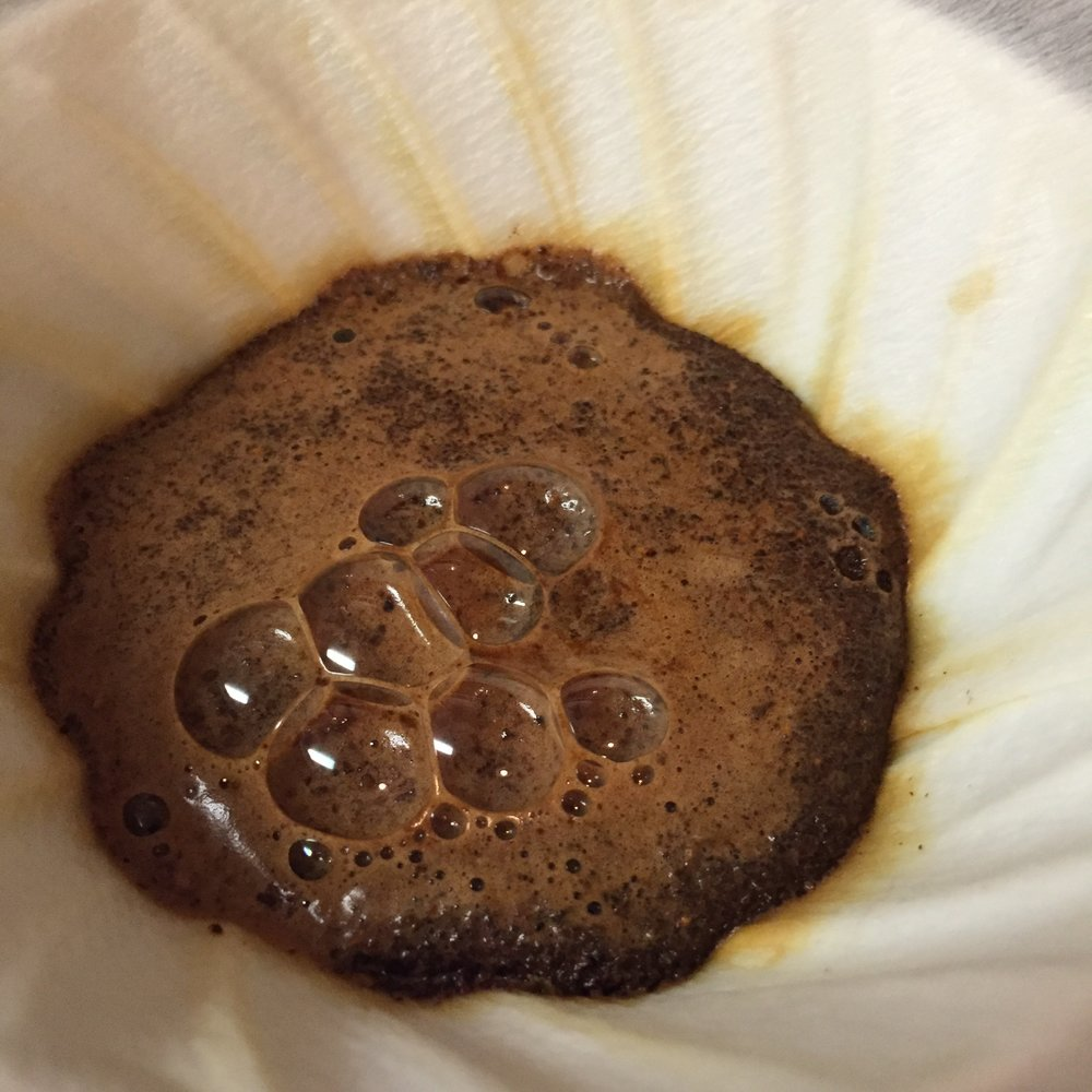 The coffee bloomed up and made for beautiful pour overs.