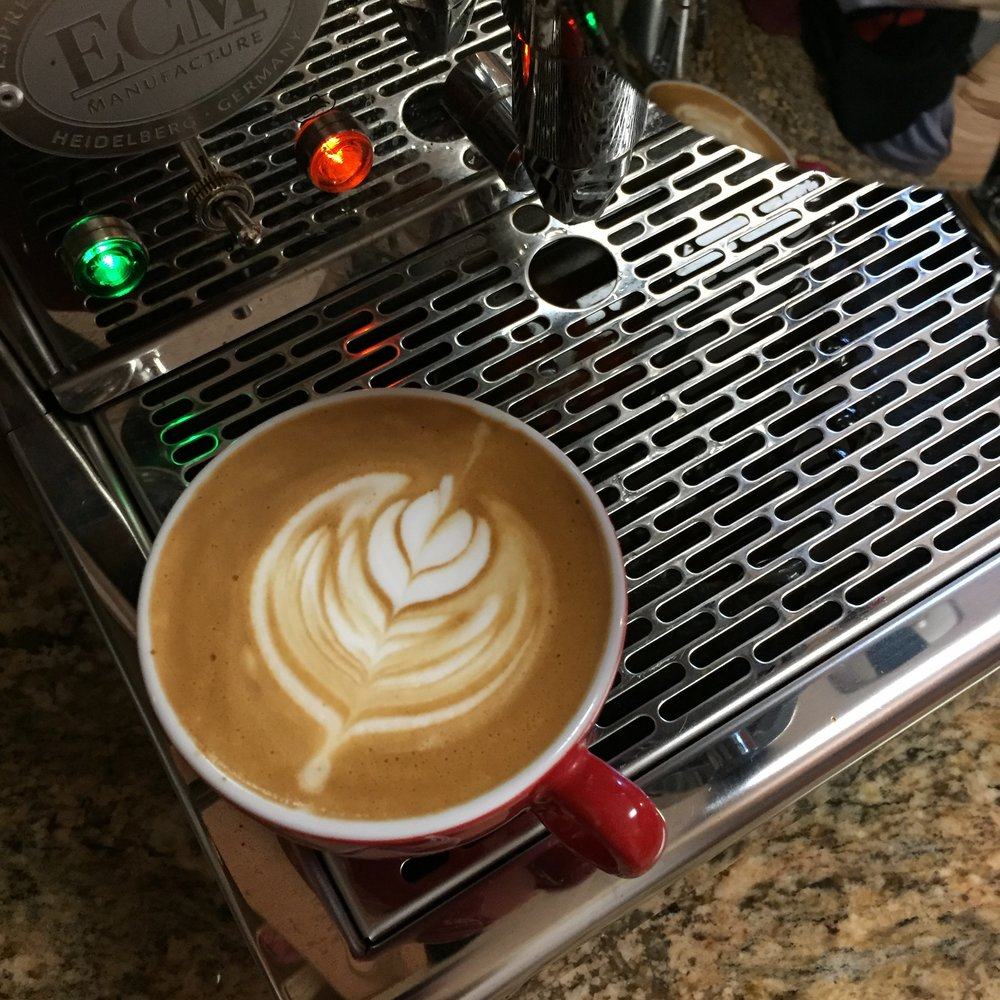 I gotta stop drinking so much straight espresso and work on my latte art game.  That last stack always gets me...