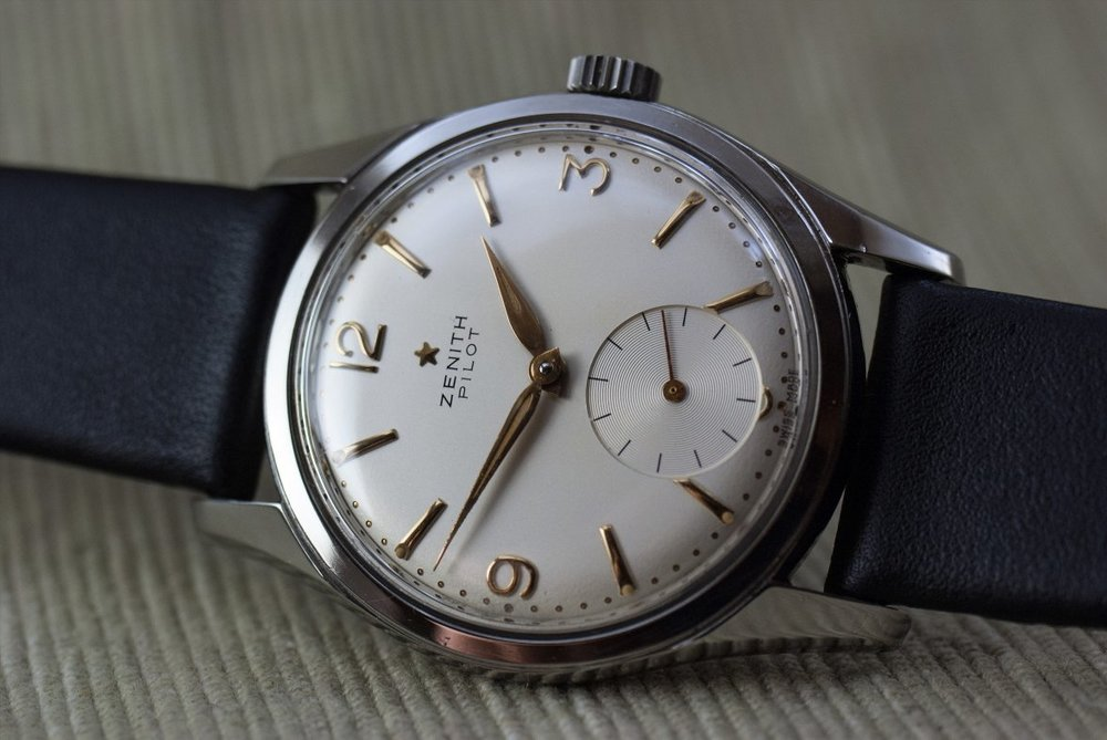 Super clean and classy Zenith Pilot, photo courtesy of FS listing, click through for more info.