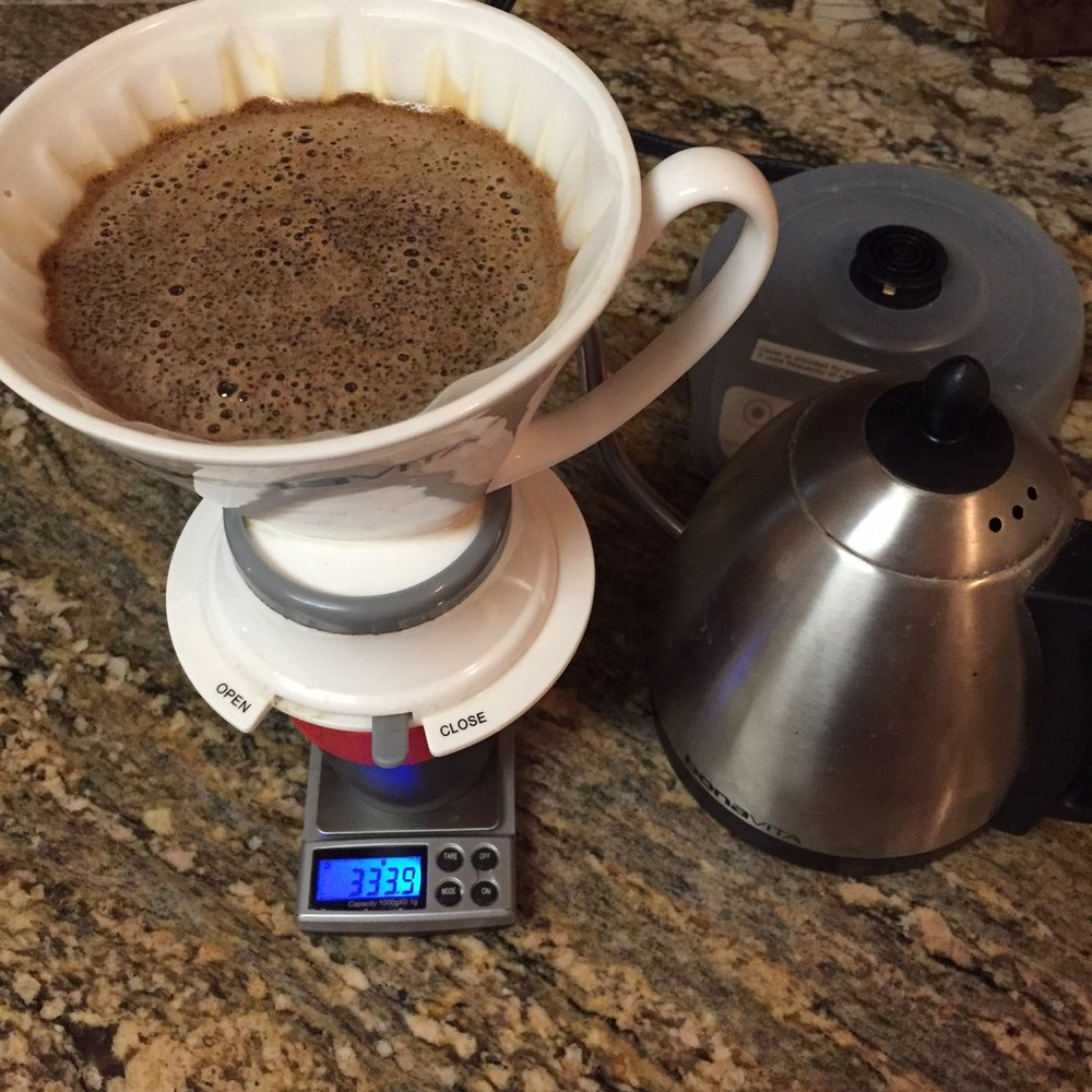 Quite possibly the easiest way to make good coffee, the   Bonavita Immersion Dripper   is always great to work with, producing really rounded, full, sweet brewed coffee here.
