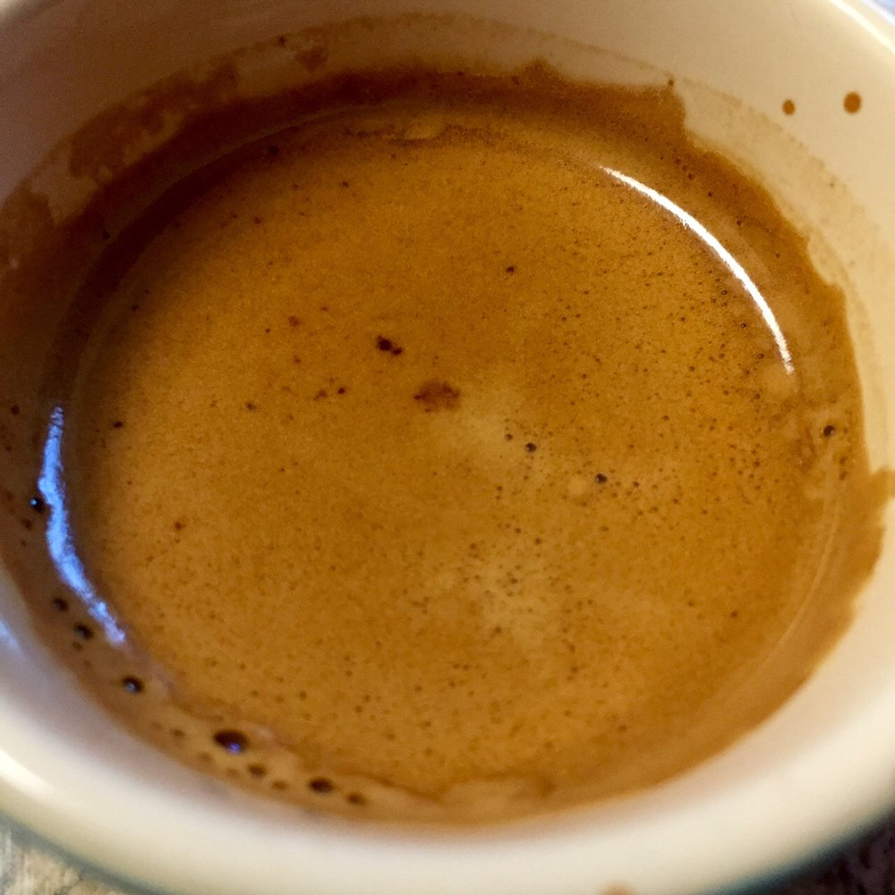 Densely syrupy sweet.  I was pleasantly surprised by just how sweet this was as espresso.