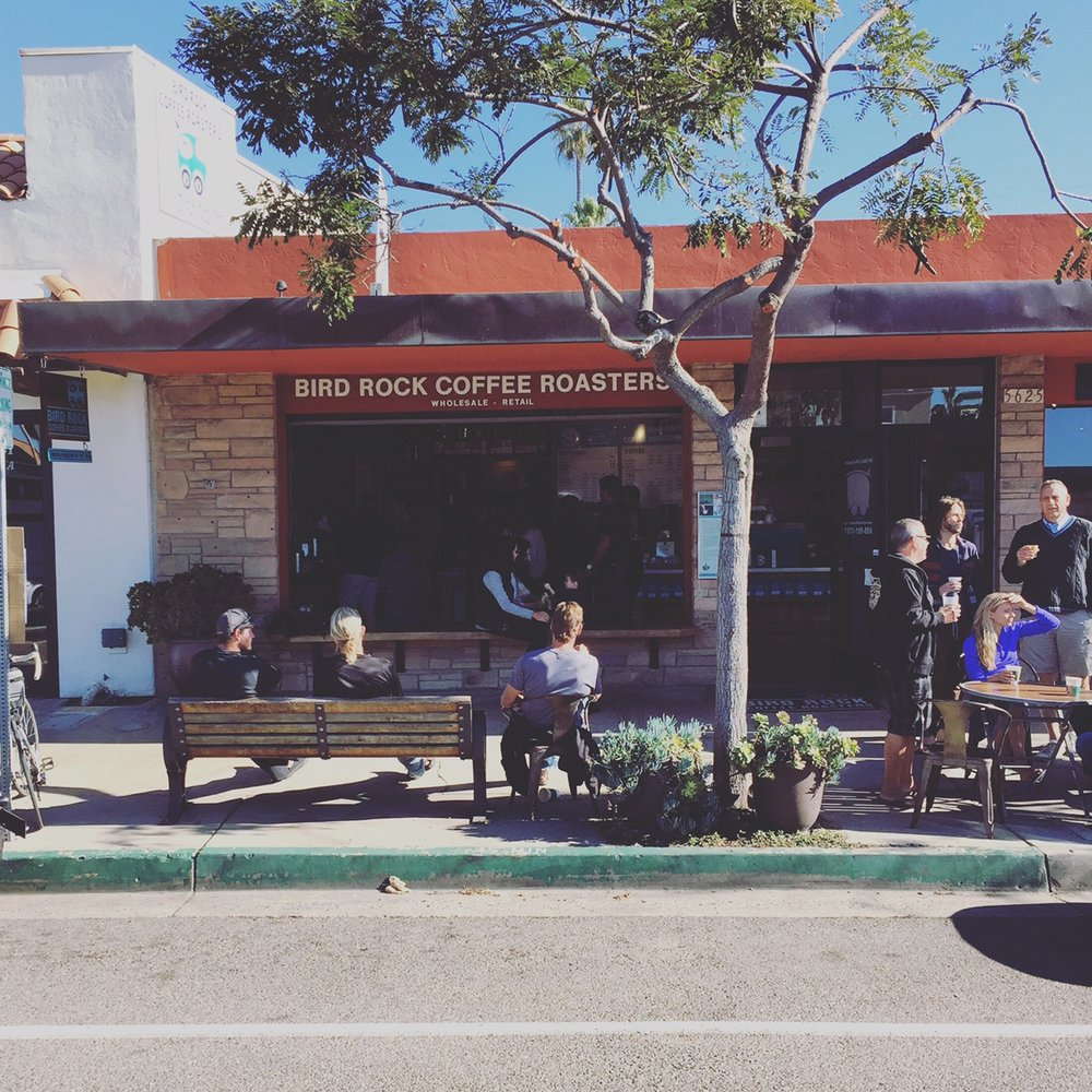 Very busy but friendly and great open air cafe in downtown La Jolla.