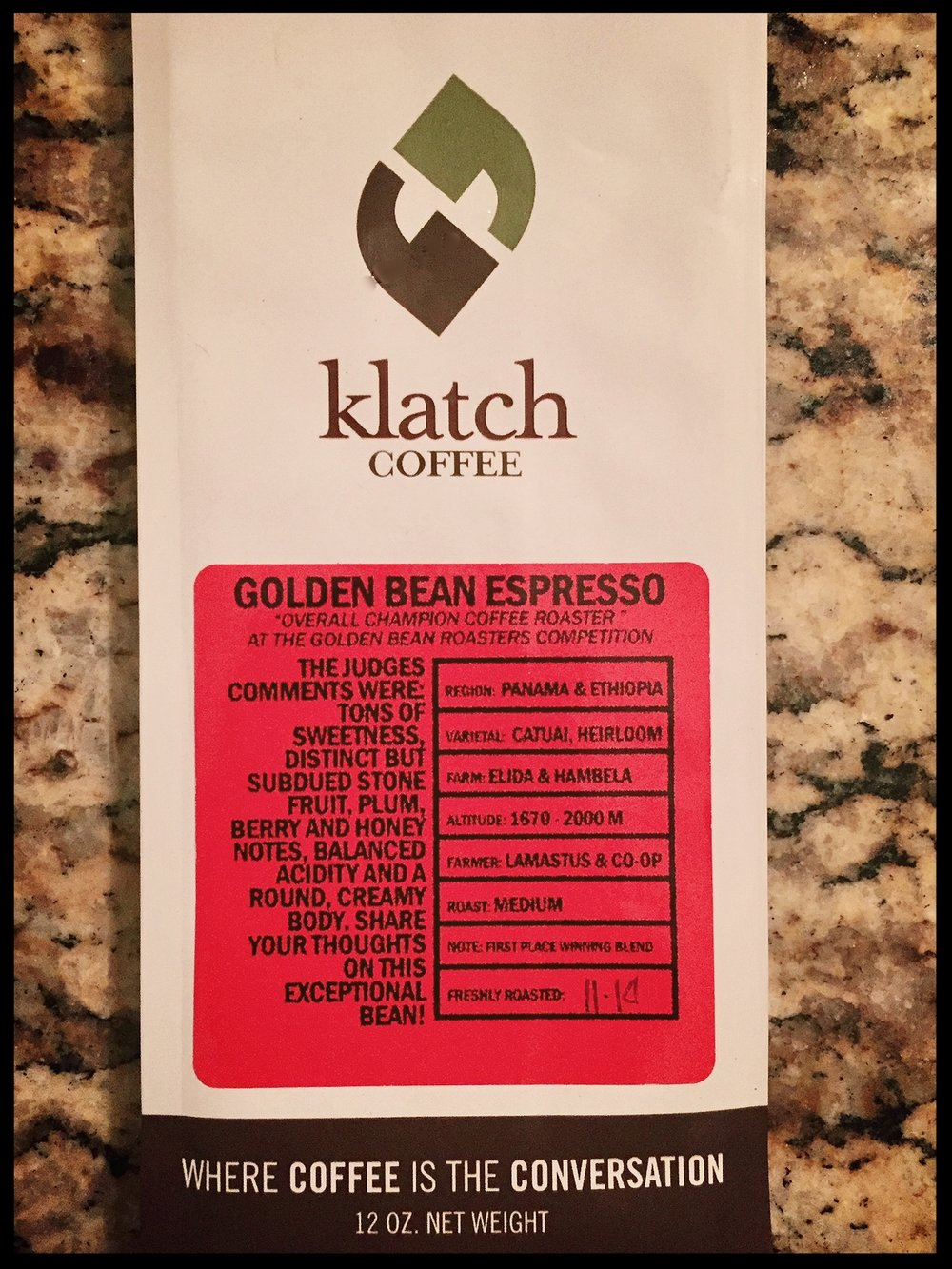 Klatch Golden Bean Espresso