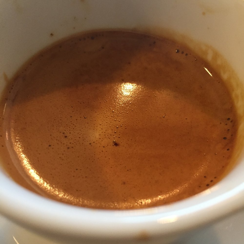This coffee needed a much finer grind as espresso, and had decent body and crema for a washed coffee.