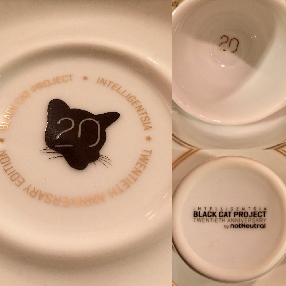 Great details on the 20th Anniversary ceramics