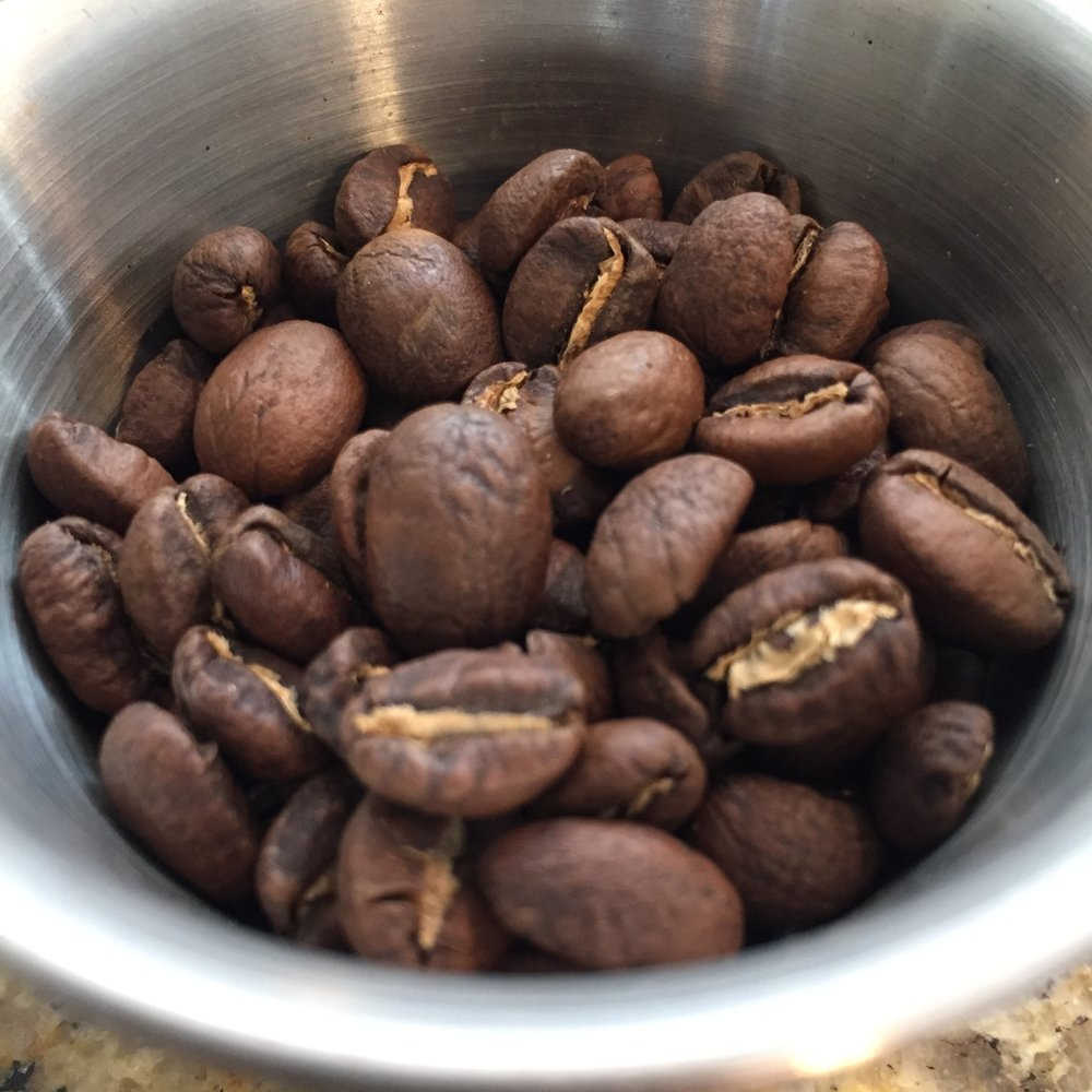Three distinctly different beans in this blend.