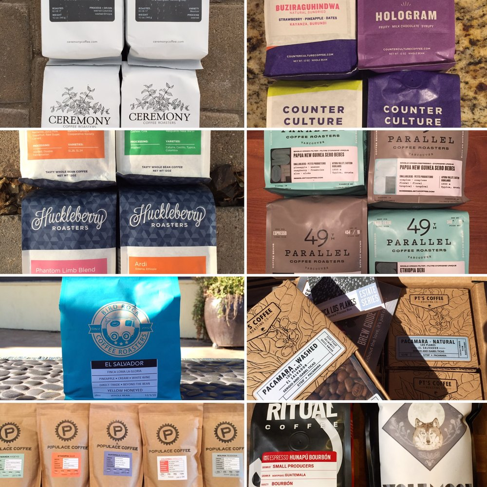 Just a few of the tons of great coffee roasters to order from.