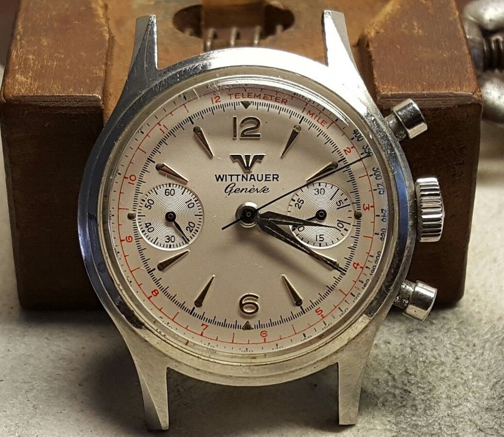 Just a clean, charming chronograph. Photo from eBay listing, click through for more information.