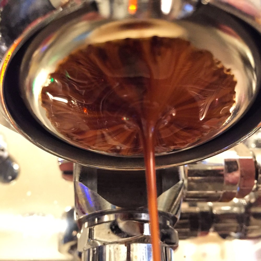 Rich, tight, classically great espresso.