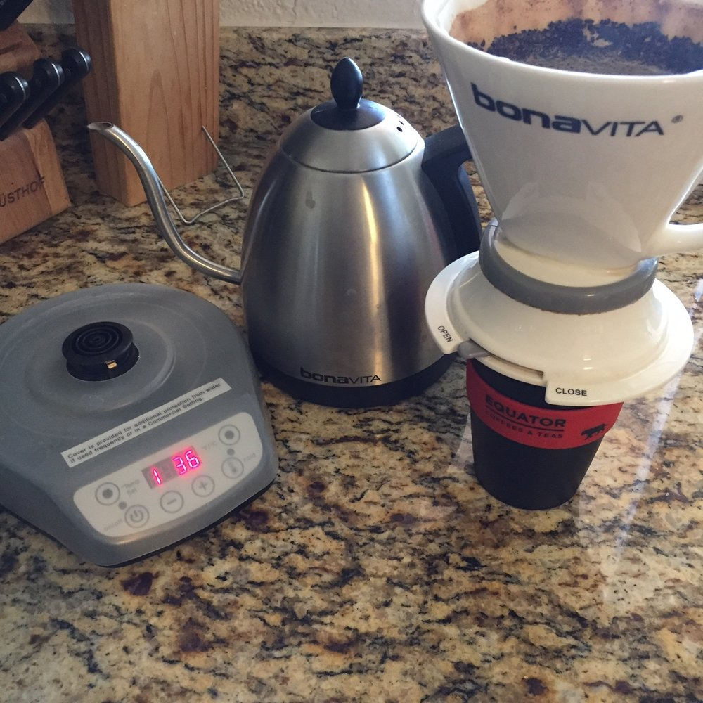The Bonavita Immersion Dripper with Bonavita Digital variable Temperature kettle make it very easy to make tasty coffee.