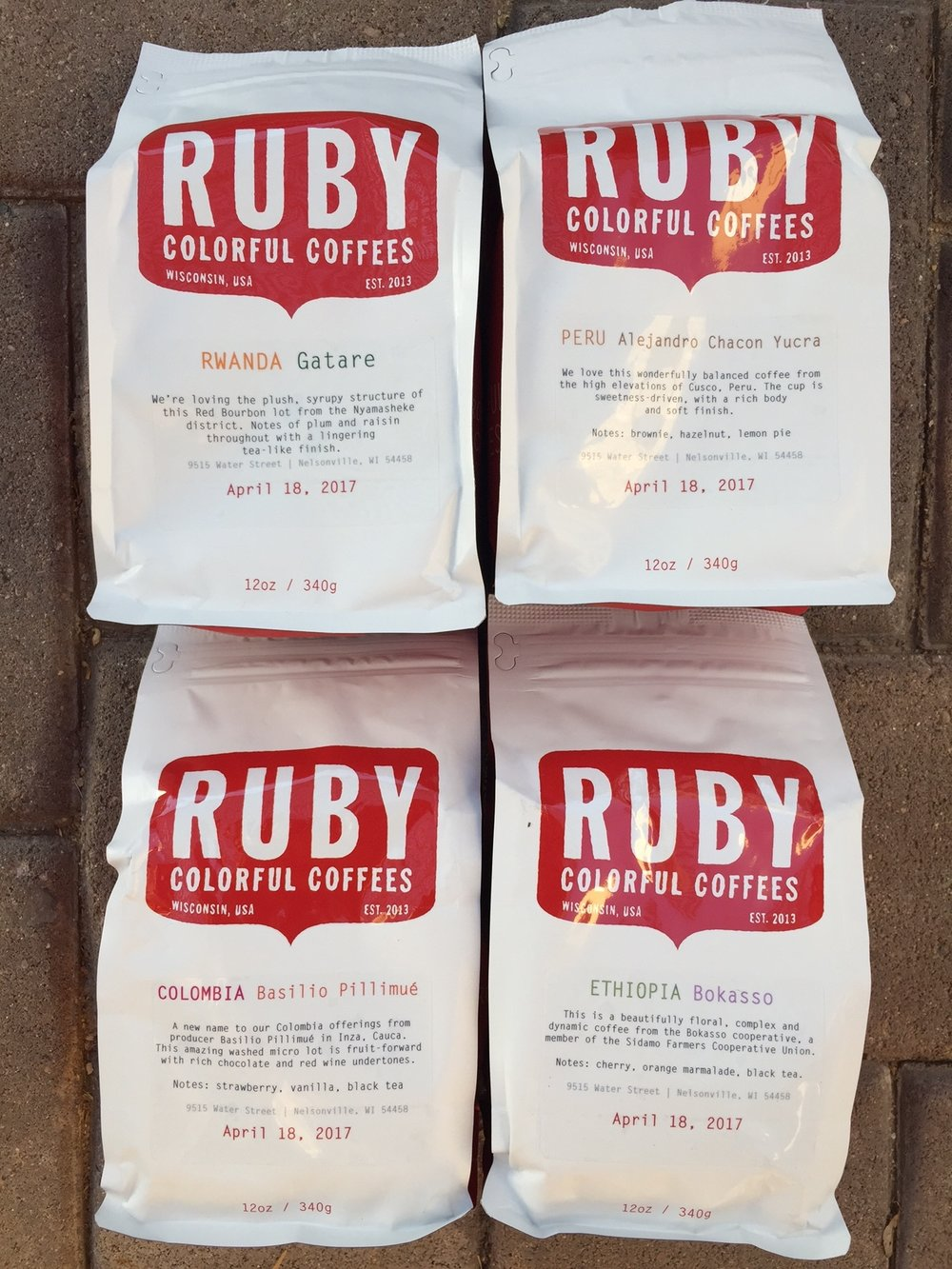 $15 per bag shipped is really a great deal for high quality, thoughtfully roasted single origin coffee. Click through for Ruby's 4x sampler pack.