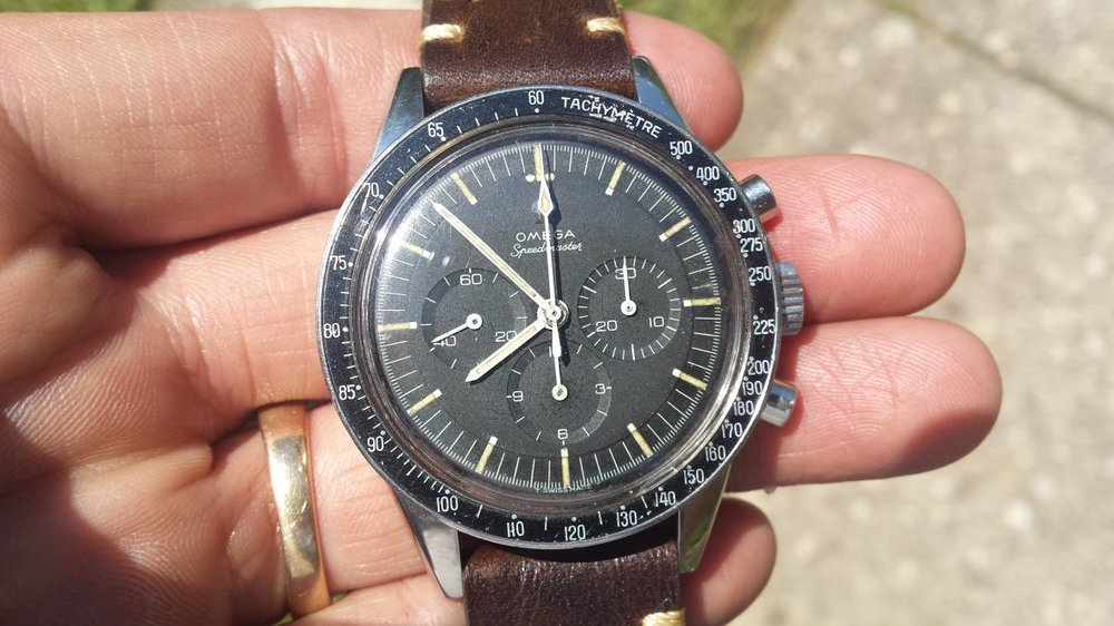 "An ""Ed White"" Speedmaster currently for sale on OmegaForums. Photo courtesy of FS listing, click through for more details."