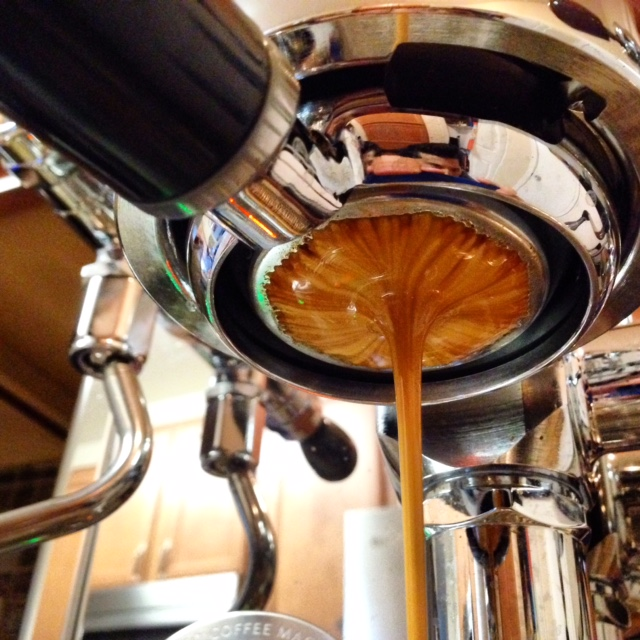 naked espresso extraction