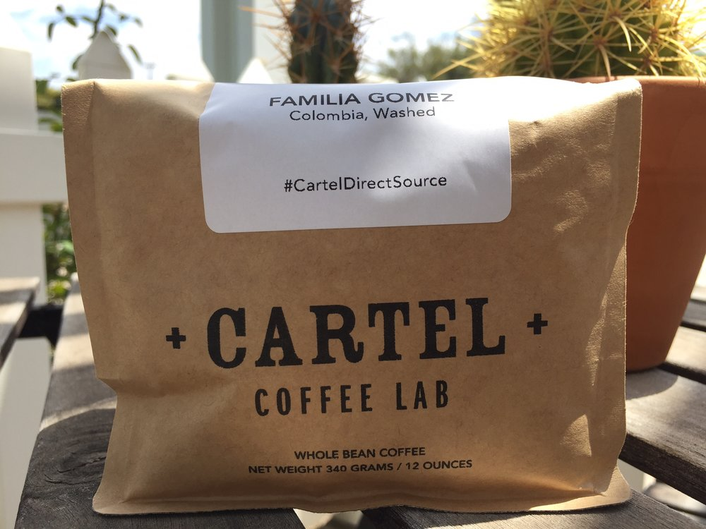 Cartel's new bags, at least for this coffee now have a resealable closure and plenty of cool details.