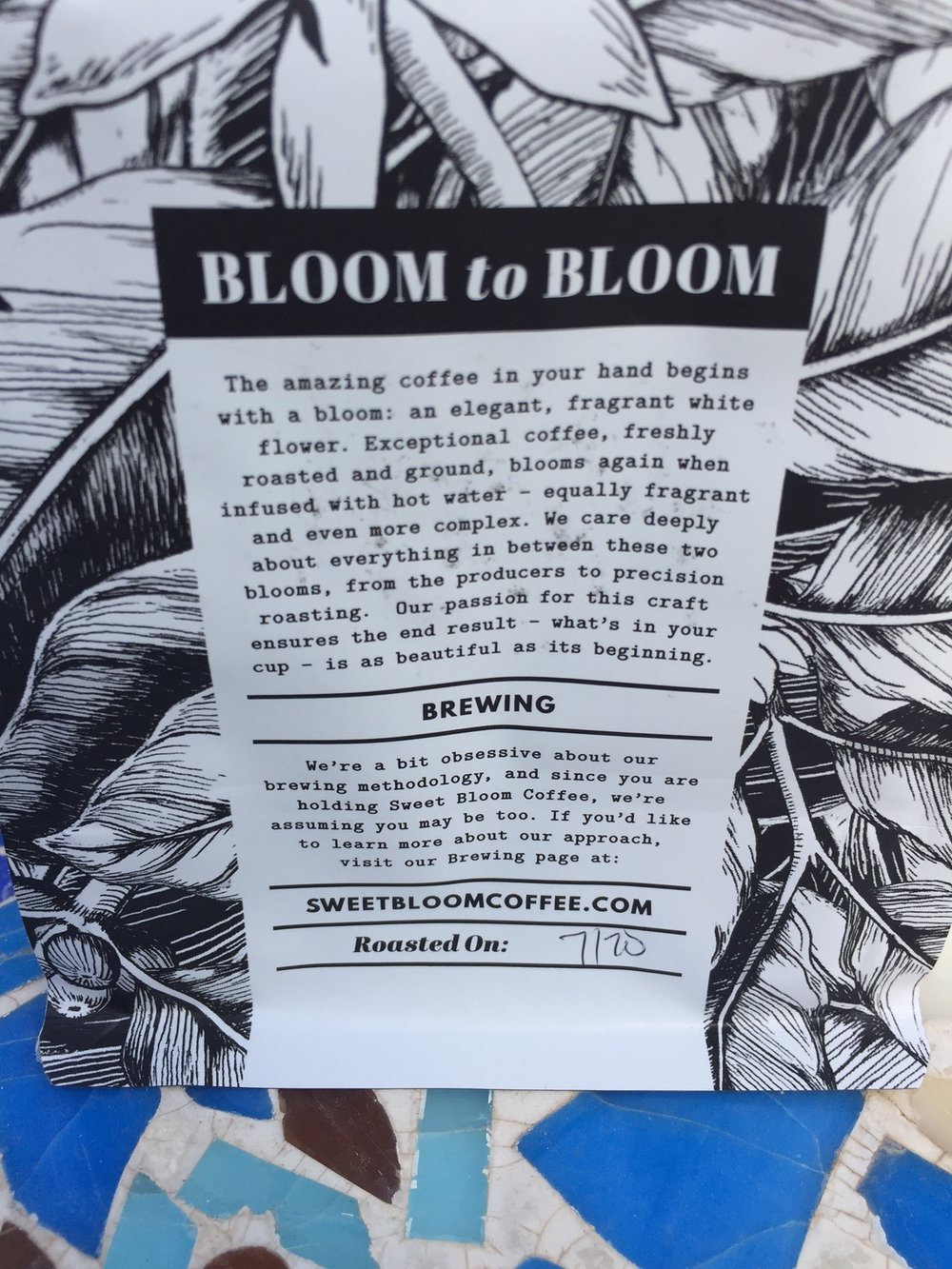 Great bags, great branding, great message. I really dig Sweet Bloom's Vibes and Principles.