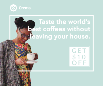 Get $10 off your first order with Crema.co by clicking through the banner