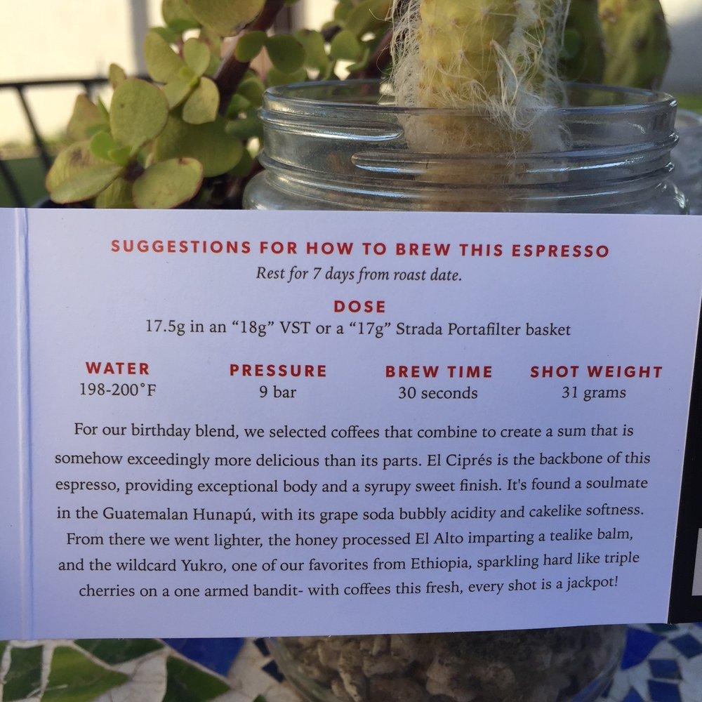 Ritual Coffee Roasters Lucky 13 Recipe.JPG
