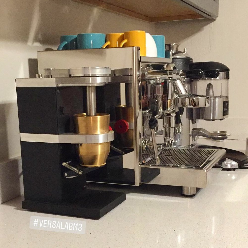 The Versalab M3 is borderline modern art on the counter.
