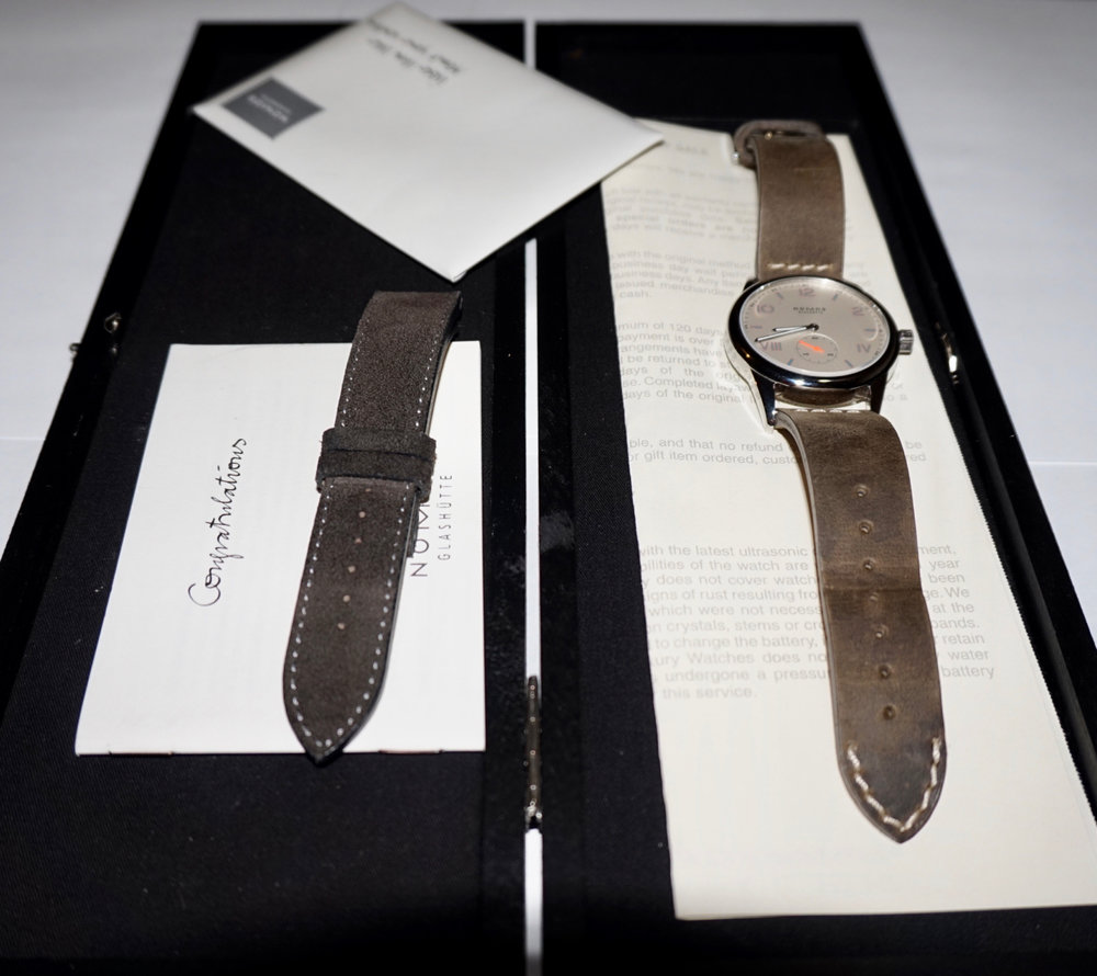 Box, paper, and an extra strap to boot. Photo from FS listing on WUS, click through for more details.