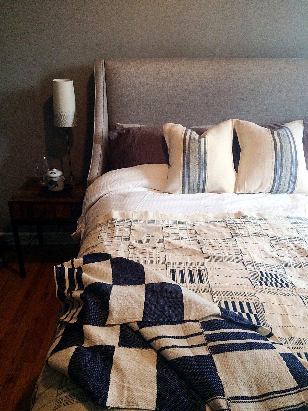 Sirakogoman Pillows and Artisanal Bedspread