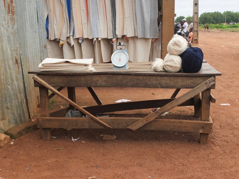 Cotton weigh station, Warainéné, Côte d'Ivoire.