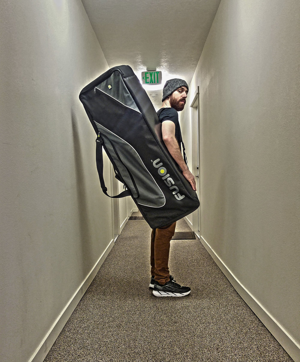 GLASYS with the Fusion Keyboard 06 gig bag.