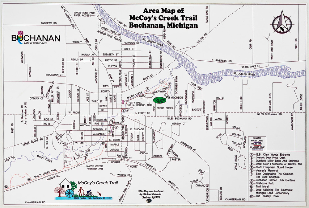 "Photo of posted, ""You are here"" map. Click to enlarge."