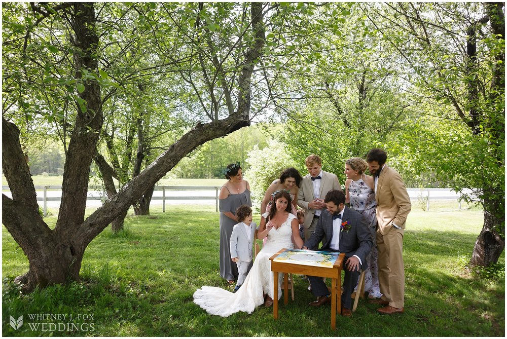 Ahhh, but first, we casually sign the kattubah in this dreamy orchard on a magical day.  Step into my office.