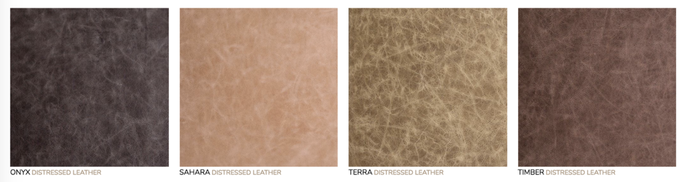Distressed Leather Cover:  Genuine Italian full grain leather features unique variations with natural markings.