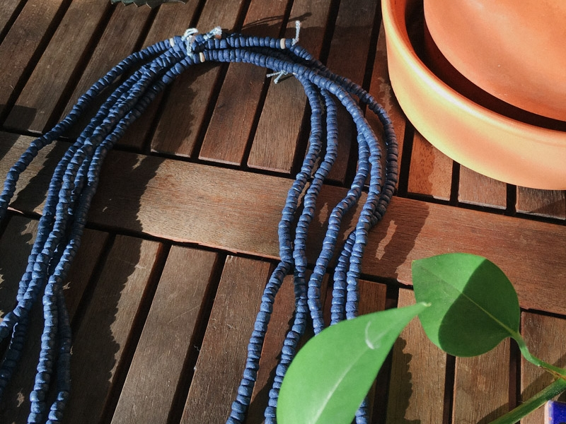 Naturally Dyed Jewelry - All of our jewelry is dyed in-house using colors from nature. We use only dyes sourced from plants and other natural ingredients like organic indigo, madder root, turmeric, and iron.